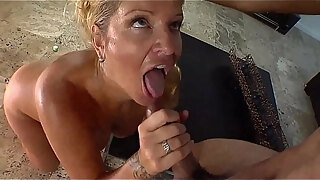 lucky guy gets to fucks a busty americana milf