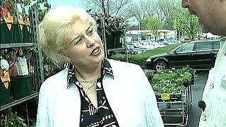 blonde housewife sucks big cock with her