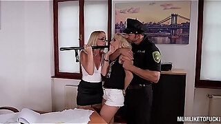 milf cop boss kathia nobili has threesome with hooker rossella visconti
