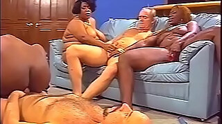 three curvy black bitches with big boobs for two old white guys