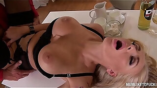 hardcore milf kayla green spooned to the extreme while her big tits jump