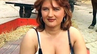chubby milf enjoying in hot country