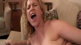 chubby mature wife gets her first big black cock in her tight asshole