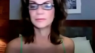 busty milf with glasses shows her tits on webcam cam2flirt com