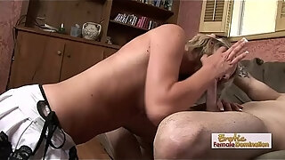 dirty young babe sucking and swallowing