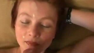 granny milena fucked with young student and get facialized