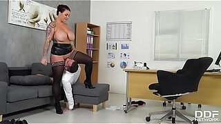 busty hot blooded boss harmony reigns fucked hard by employee at the office