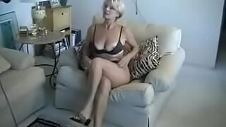 lovely 60 plus blonde lady posing three parts