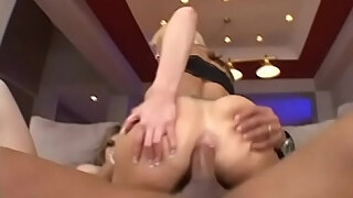 two sexy lolas cindy sterling and brooke haven get their asses stretched by a massive cock