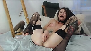 sexy girl play with herself fisting