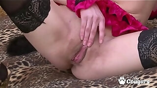 milf in stockings amp heels has a shaking orgasm