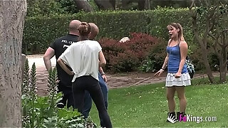 being famous is great antonio finds and fucks a blonde milf right in the park