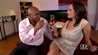 busty rich milf gets hardcore interracial fuck for 1st time