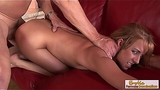horny housewife rides a thick cock like a cowgirl