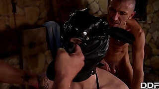 blonde slut mila milan dp amp rough sex domination