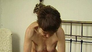 horny mature amateur bitch rubbing her wet tight pussy on young cock to fuck