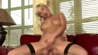 bend over the blonde for anal