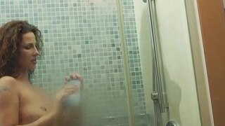 erotic showering with super mother milf