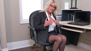 sultry milfs bianca and penny masturbate at the office