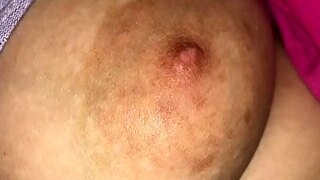 horny mum flashes her natural boobs hard nipples hd