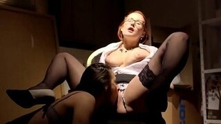 office babe pussylicking spex milf