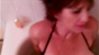 piss slut gilf with huge tits getting ready to be humiliated