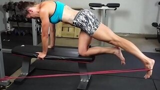 super fit milf workout barefoot part 1 www prettyfeetvideo com