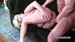 busty blonde nikki hunter gets her ass pounded
