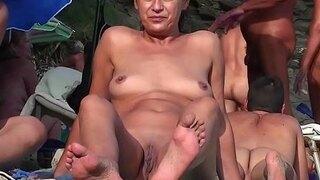 hot shaved pussy nudist milfs beach voyeur hd video 1