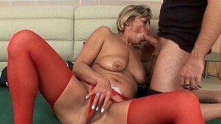 grandmas pussy gets fucked by her toy boy