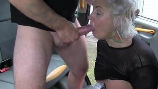 fake taxi blond milf gets surprise anal sex and rims the driver