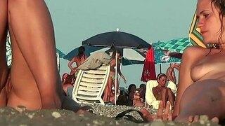nudist lesbian milfs beach voyeur hidden cam