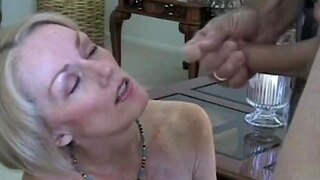 sloppy milf amateur blowjob