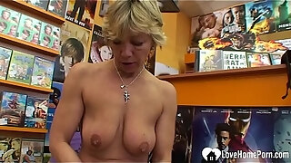 instead of renting a video she got fucked
