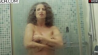 young mommy enjoying hot shower and showing pussy xczech com