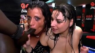 two german moms get their big tits covered in piss 666bukkake